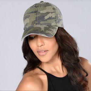 Fashion Nova Camo Baseball Cap